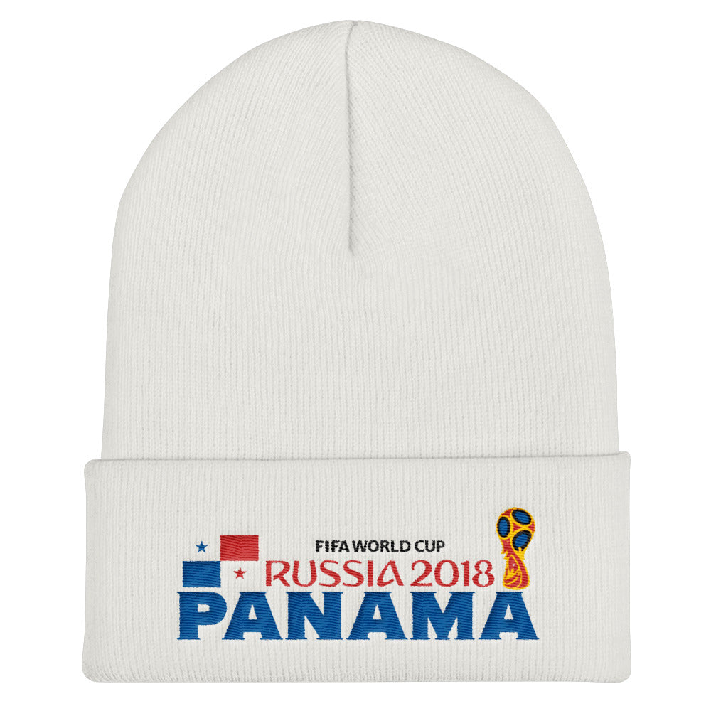 Panama World Cup Embroider Cuffed Beanie
