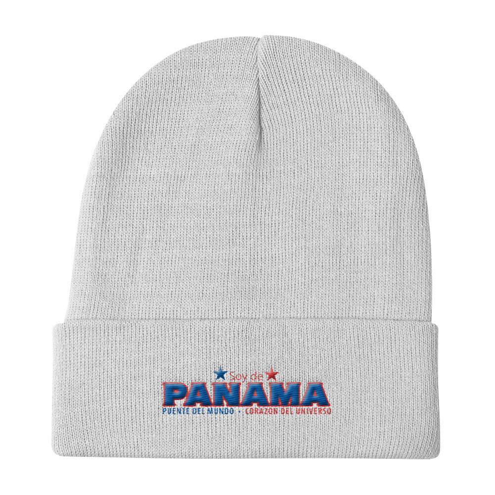 Soy De Panama 3D Embroidered Knit Beanie