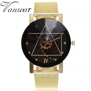 Casual Quartz Stainless Steel Band Marble Strap Watch Analog Wrist Watch XU1