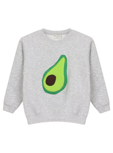 KIDS AVOCADO SWEATSHIRT - MCINDOE DESIGN - tropical - printed - clothing - travel - beach