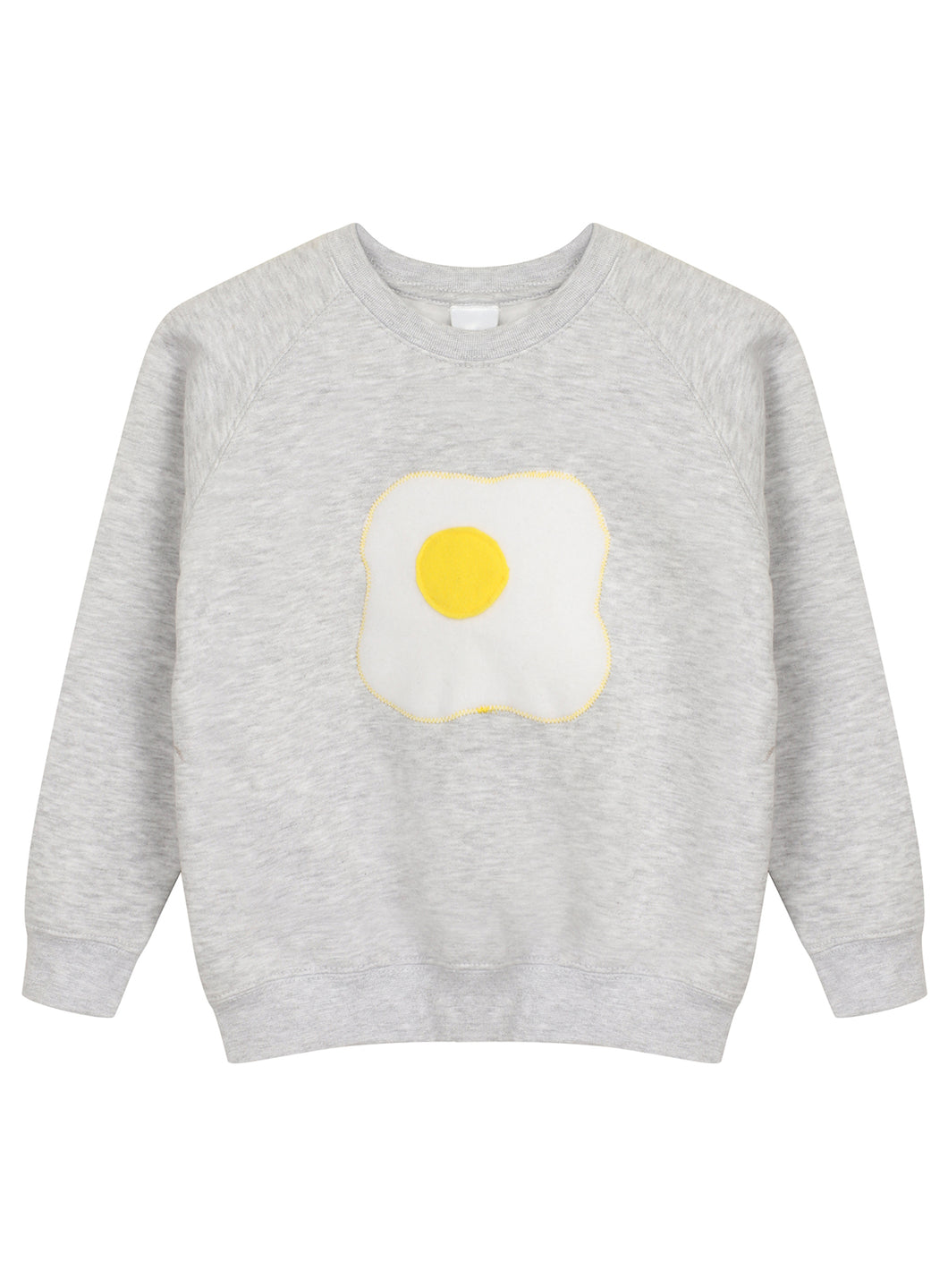 KIDS GREY EGG SWEATSHIRT - MCINDOE DESIGN - tropical - printed - clothing - travel - beach