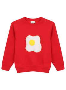 KIDS RED EGG SWEATSHIRT - MCINDOE DESIGN - tropical - printed - clothing - travel - beach