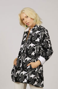 OVERSIZED ORCA PRINT SHIRT - MCINDOE DESIGN - tropical - printed - clothing - travel - beach