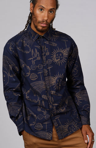 Smokin' Sol Print Shirt - MCINDOE DESIGN - tropical - printed - clothing - travel - beach