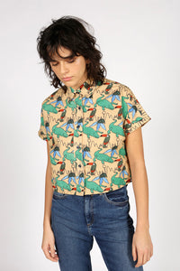 SHORT-SLEEVED TROPICAL SHIRT - MCINDOE DESIGN - tropical - printed - clothing - travel - beach