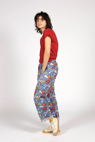 DINOSAUR TROUSERS - MCINDOE DESIGN - tropical - printed - clothing - travel - beach