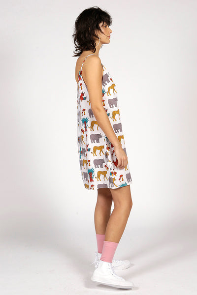 JUNGLE PRINT SLIP DRESS - MCINDOE DESIGN - tropical - printed - clothing - travel - beach