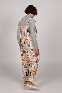 Pear Dungarees - MCINDOE DESIGN - tropical - printed - clothing - travel - beach