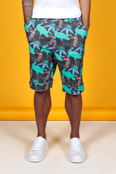 DARK TROPICAL PRINT SHORTS - MCINDOE DESIGN - tropical - printed - clothing - travel - beach
