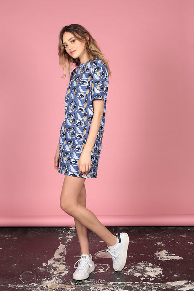 Whale Print T-shirt Dress - MCINDOE DESIGN - tropical - printed - clothing - travel - beach