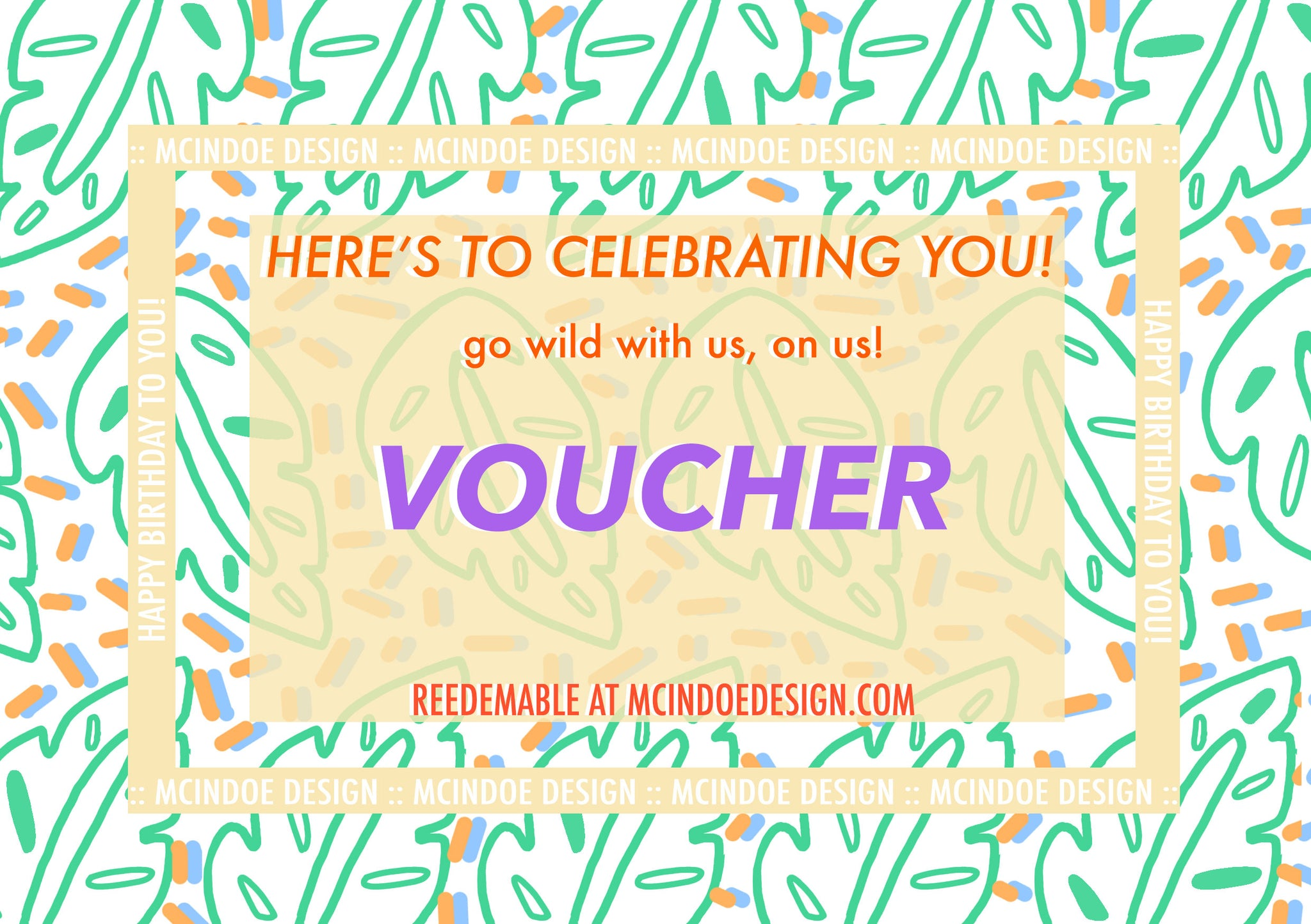 GIFT CARD - MCINDOE DESIGN - tropical - printed - clothing - travel - beach