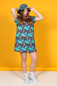 TROPICAL PRINT T-SHIRT DRESS - MCINDOE DESIGN - tropical - printed - clothing - travel - beach