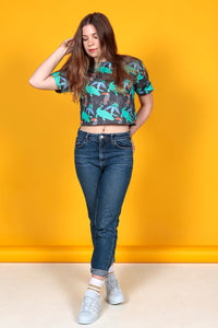 Tropical Print Crop Top - MCINDOE DESIGN - tropical - printed - clothing - travel - beach