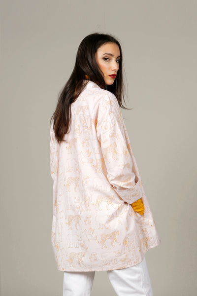 Oversized Gold Jungle Print Shirt - MCINDOE DESIGN - tropical - printed - clothing - travel - beach