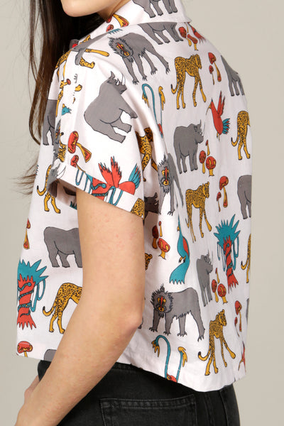 SHORT-SLEEVED JUNGLE PRINT SHIRT - MCINDOE DESIGN - tropical - printed - clothing - travel - beach