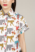 Load image into Gallery viewer, SHORT-SLEEVED JUNGLE PRINT SHIRT - MCINDOE DESIGN - tropical - printed - clothing - travel - beach