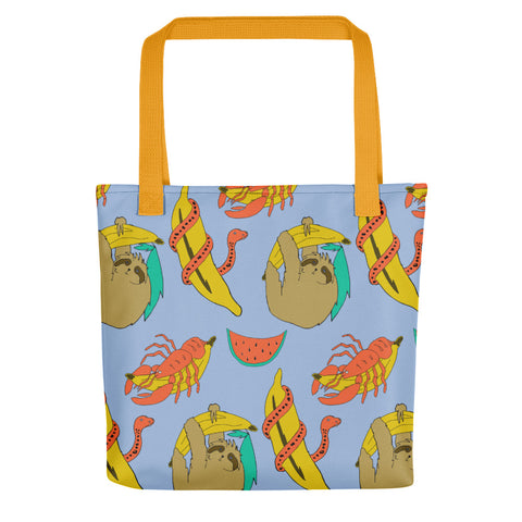 Sloth Print Tote bag - MCINDOE DESIGN - tropical - printed - clothing - travel - beach