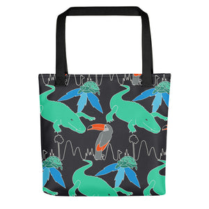 Tropical Print Tote bag - MCINDOE DESIGN - tropical - printed - clothing - travel - beach