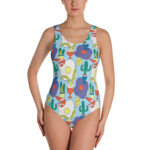 Fried Egg Print Swimsuit - MCINDOE DESIGN - tropical - printed - clothing - travel - beach