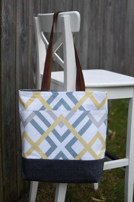 The Bag That Started It All (Geometric Yellow/Blue)