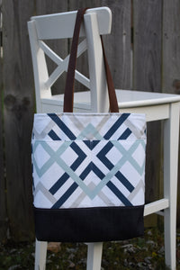 The Bag That Started It All (Geometric Blue/Gray)