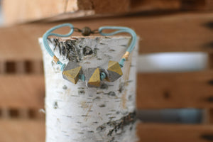 Concrete Cube Necklace- Natural