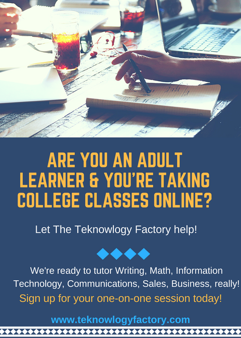 Tutoring for Adult College Students