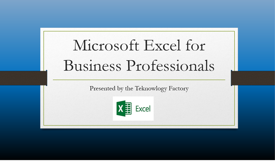 Microsoft Excel Level 1 E-Learning