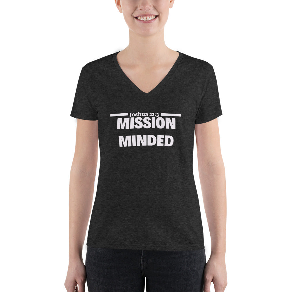 Mission Minded Women's Fashion Deep V-neck Tee