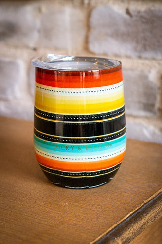 Black Serape Wine Tumbler