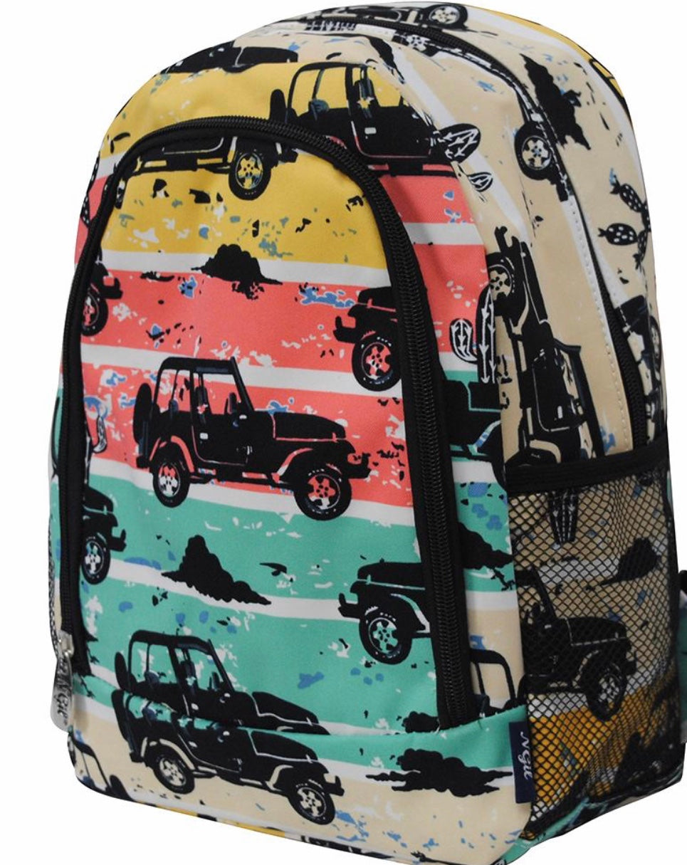 Desert Adventure Medium Size NGIL Canvas School Backpack