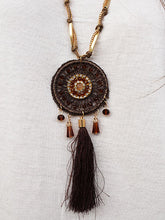 Dream Catcher Necklace with Beaded Accents and Tassel- Sale