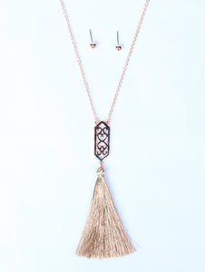 Sabrina's Detailed Necklace with Tassel