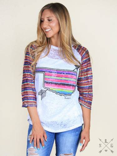 Serape Oklahoma with Tribal Arrow Ladies Sale
