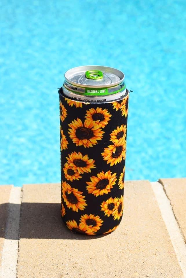 Sunflower Slim Koozie
