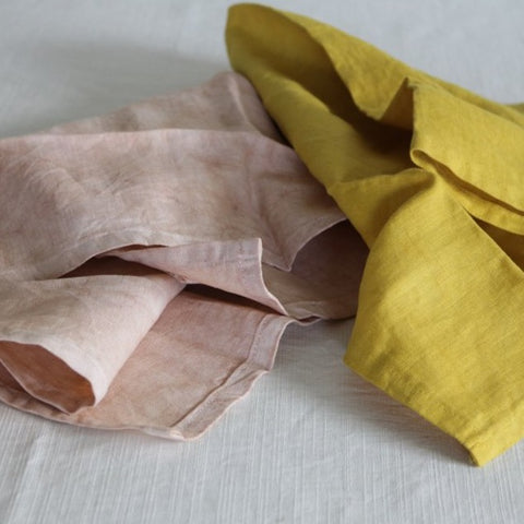 Avocado & Marigold Linen Tea Towel Set