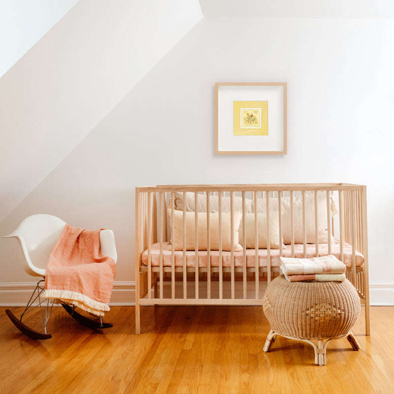 nursery with yellow art