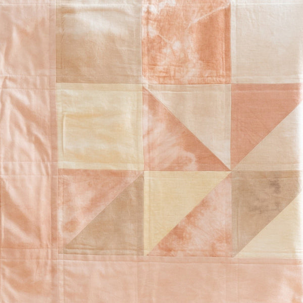 baby quilt with natural dyes