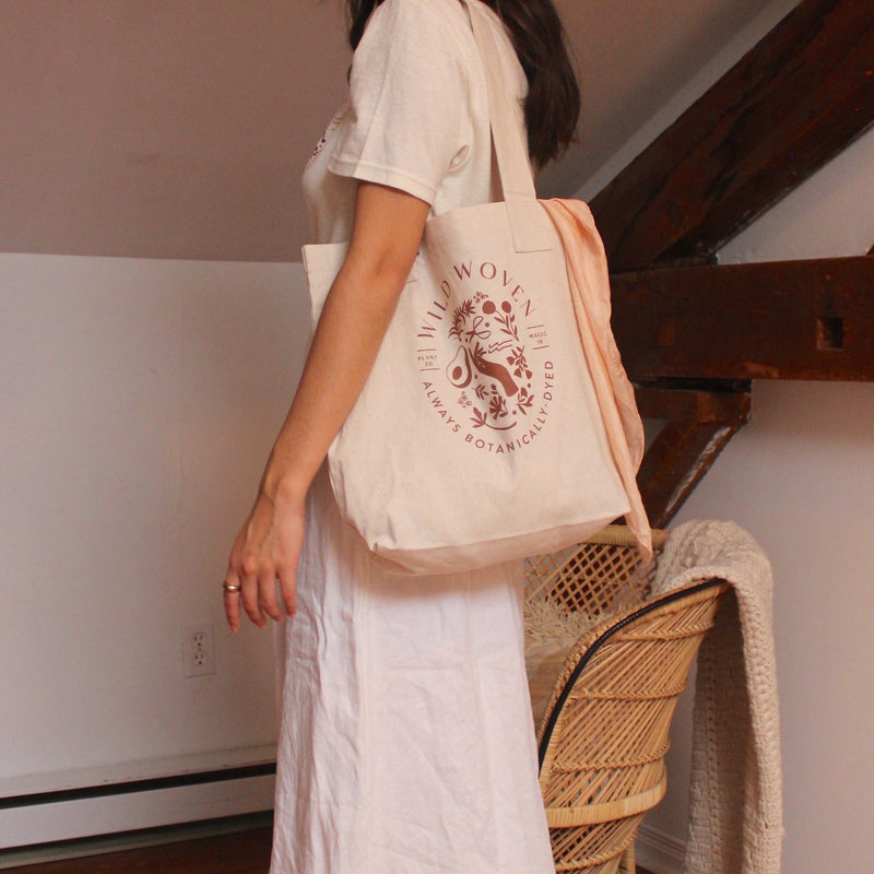 tote bag with silk scarf