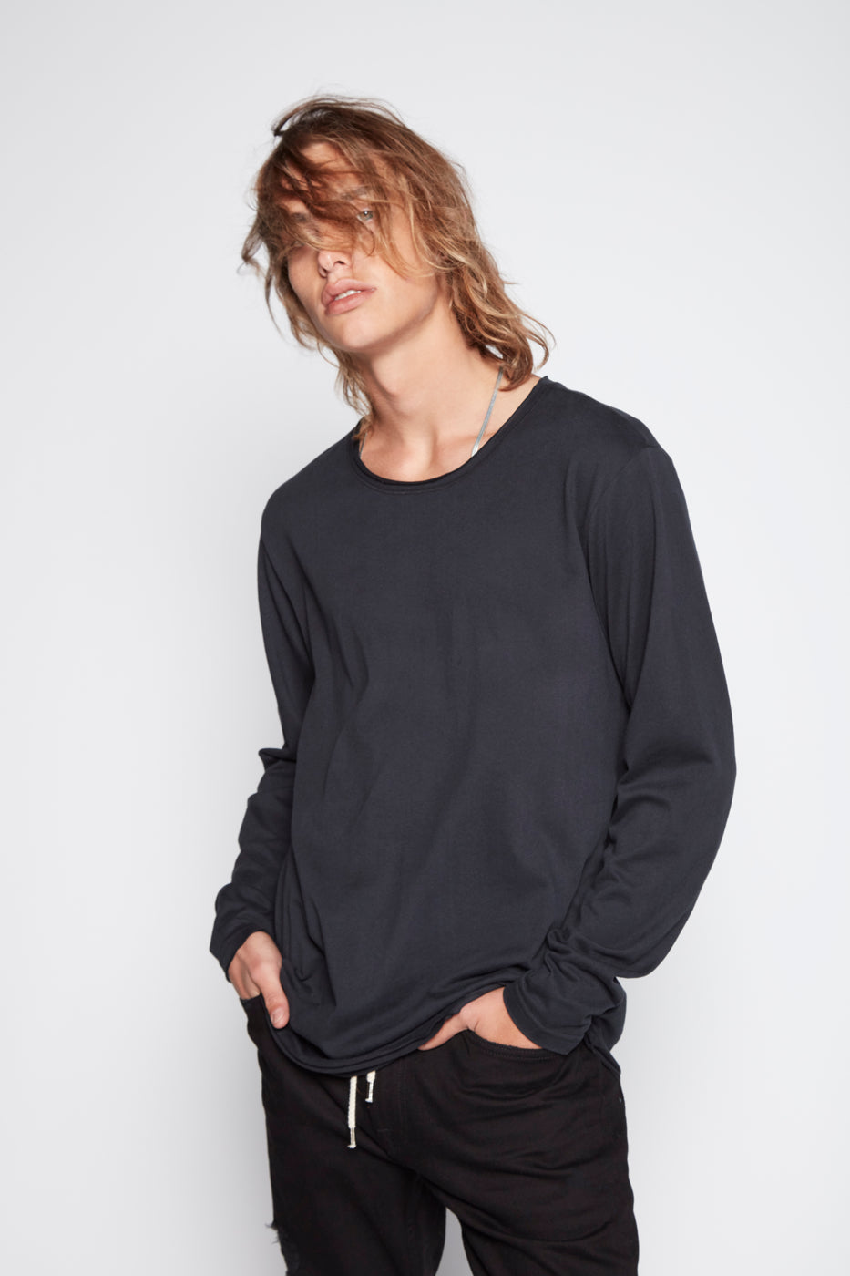 Aki Raw Edge Long Sleeve