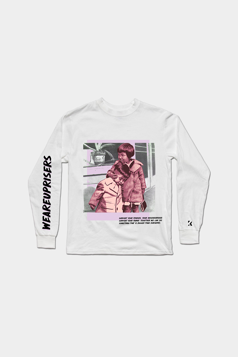 Support Your Neighborhood Long Sleeve Streetwear Graphic Tee