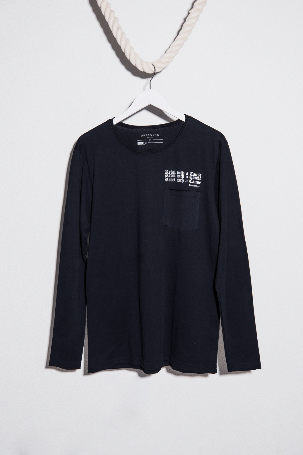 Rebel With A Cause Raw Edge Pocket Long Sleeve