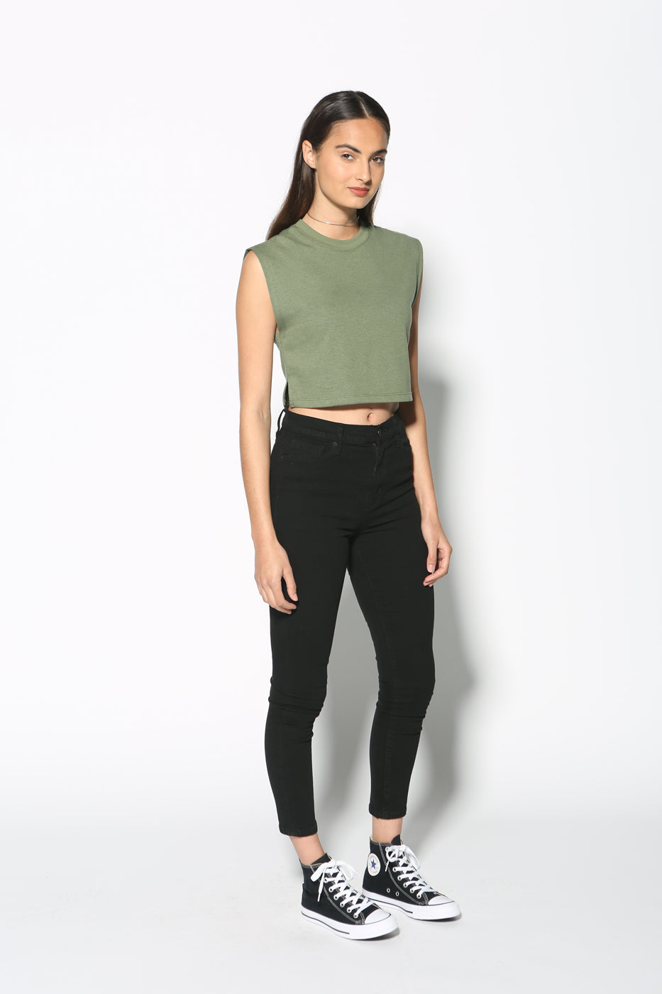 Moe Cropped Muscle Tank