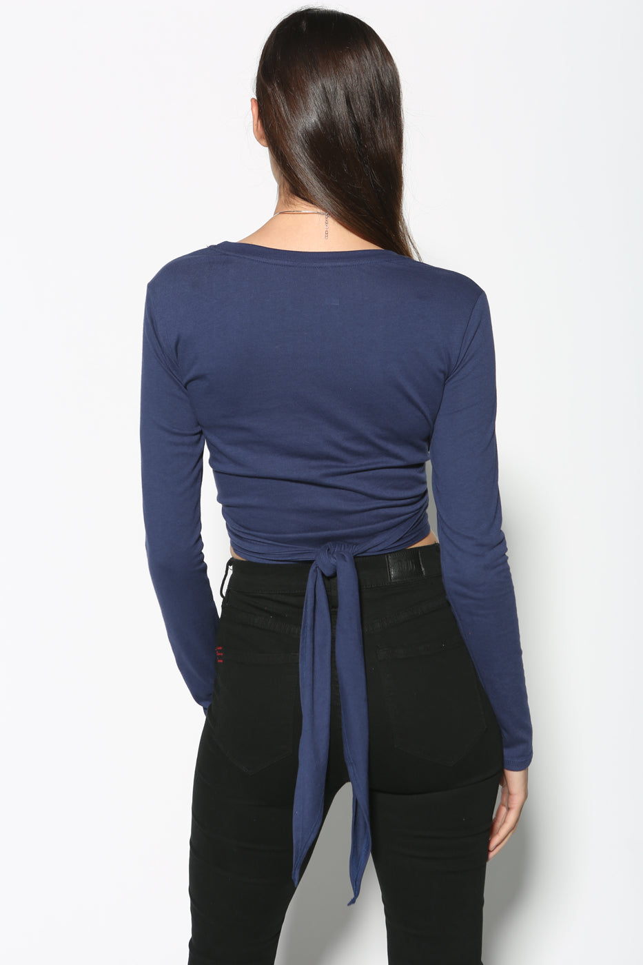 Top - Tomi Cropped Tie Around