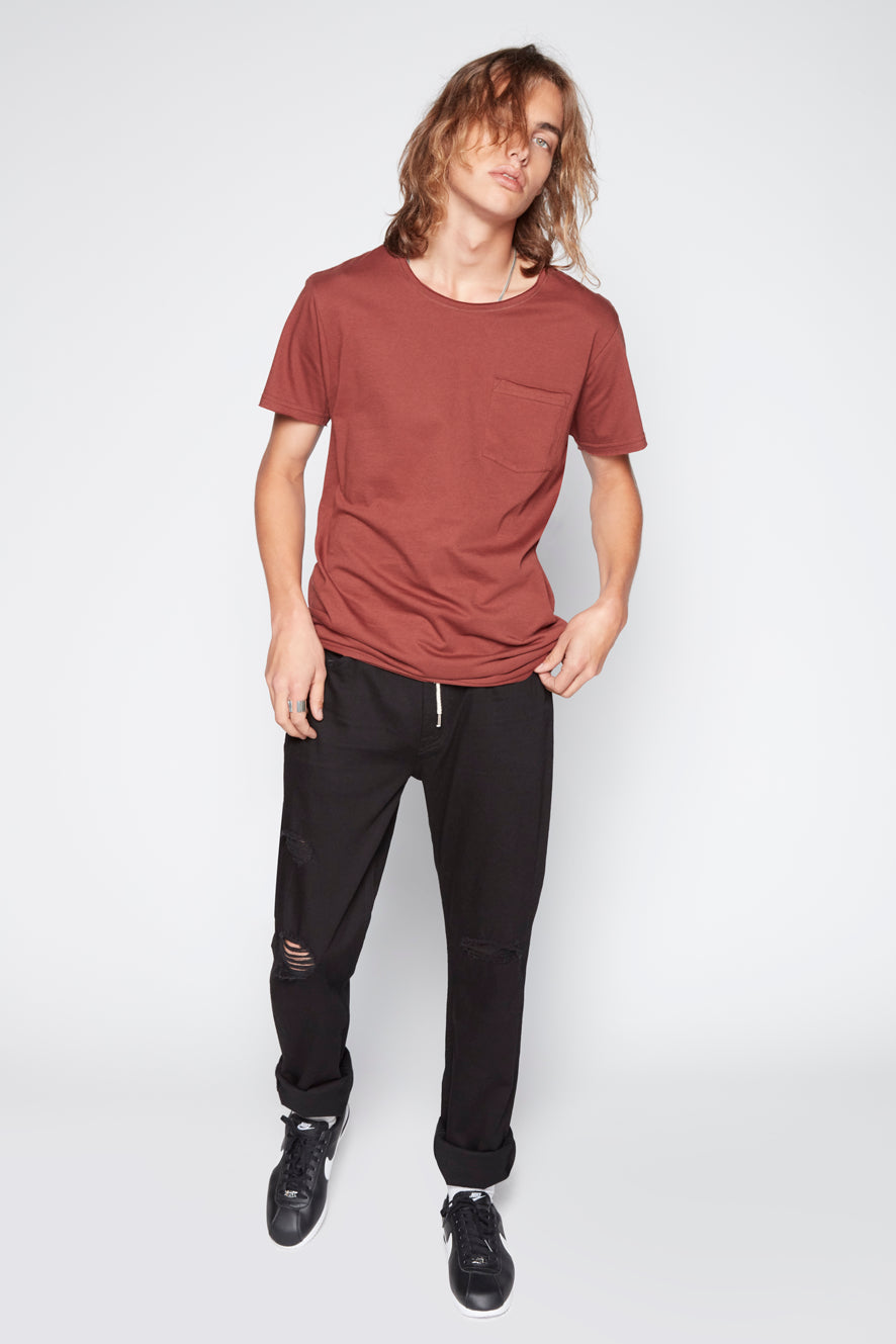 Top - Tomi Raw Edge Pocket