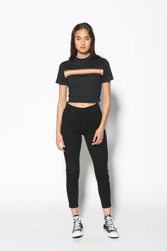 Top - Uprising Graphic Crop Tee