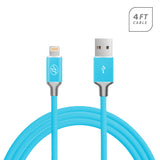 Apple IPhone 6 / 6S Plus USB Round Data Charger Cable 4 Feet Blue