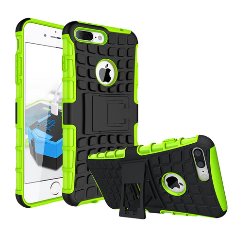 IPhone 8 Plus / 7 Plus TPU Slim Rugged Hybrid Stand Case Cover Green