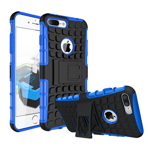 IPhone 8 Plus / 7 Plus TPU Slim Rugged Hybrid Stand Case Cover Blue