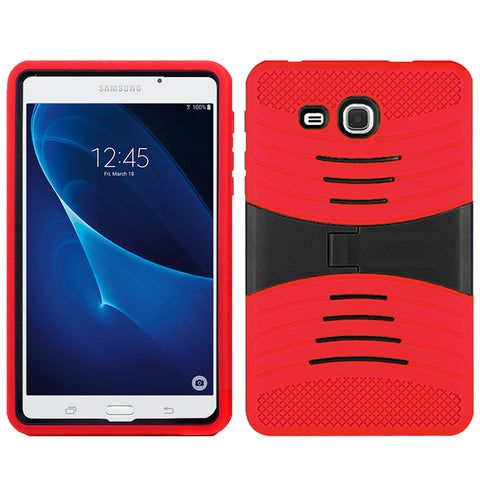 Samsung Galaxy Tab A 7.0 / T280 Hybrid Silicone Case Cover Stand Red